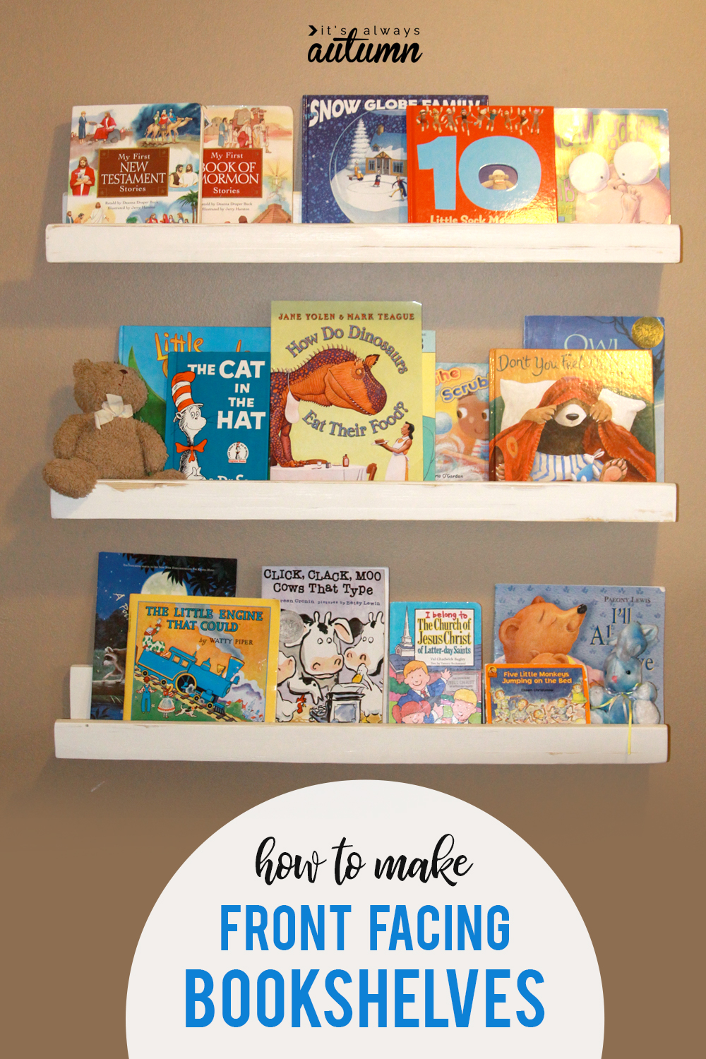 How To Make Front Facing Bookshelves Store And Display Books In A Kids Room