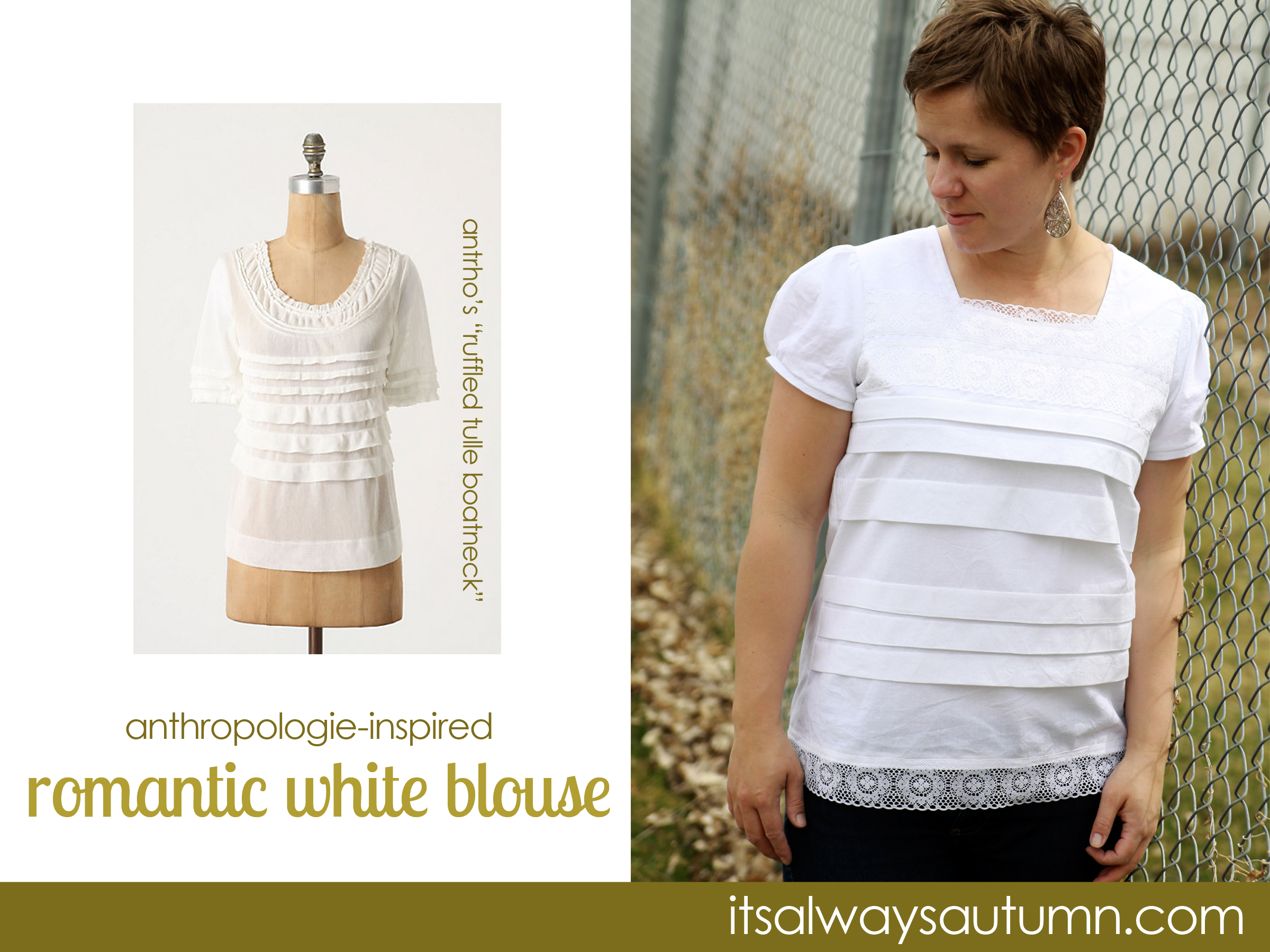 sew: anthro-inspired romantic white blouse
