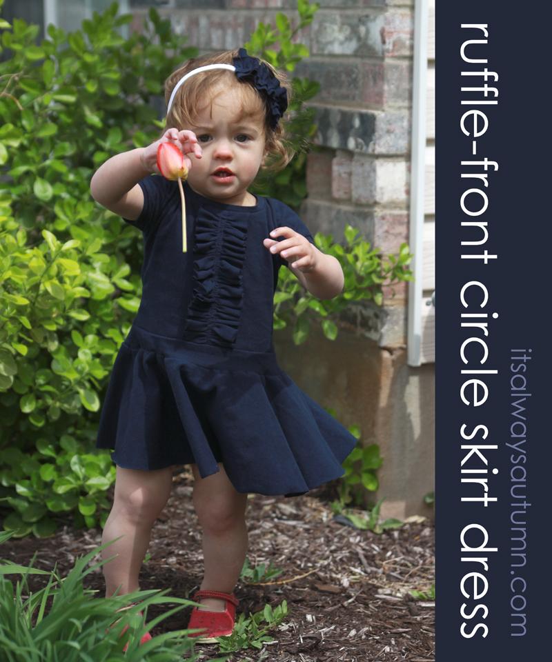sew: ruffle front circle skirtdress