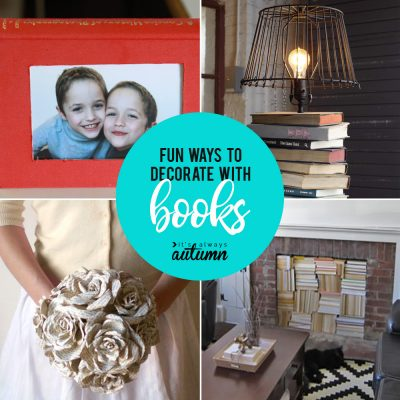 8 fun ways to decorate with books or book pages