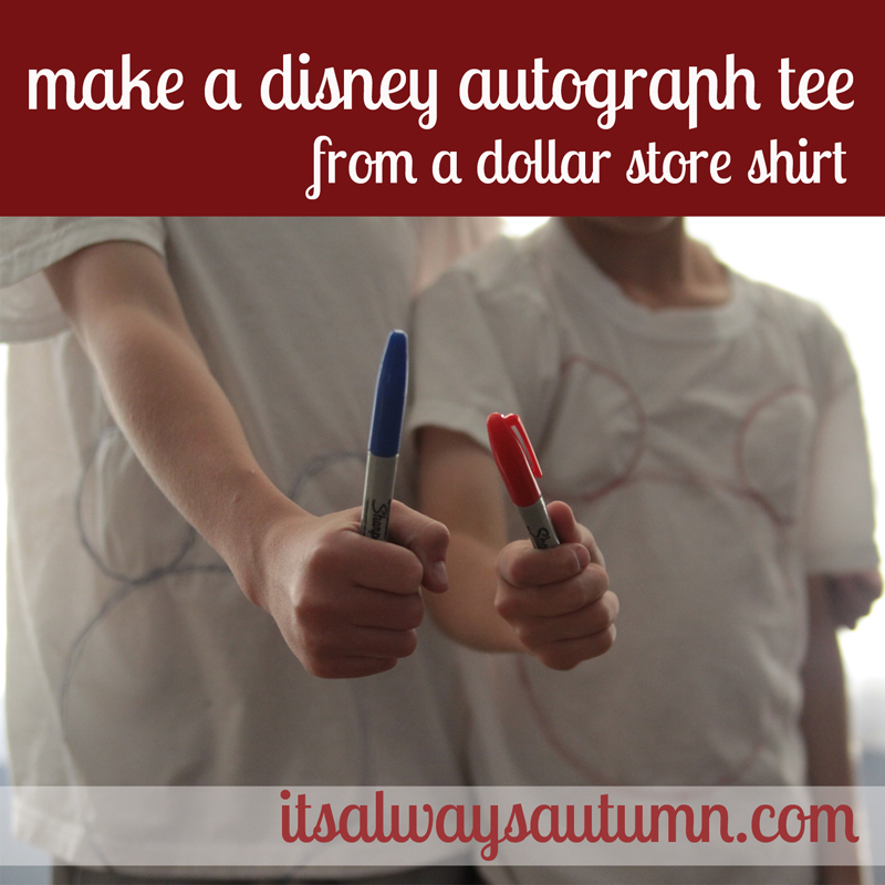 disney week: dollar store must haves (including a DIY mickey autographshirt)