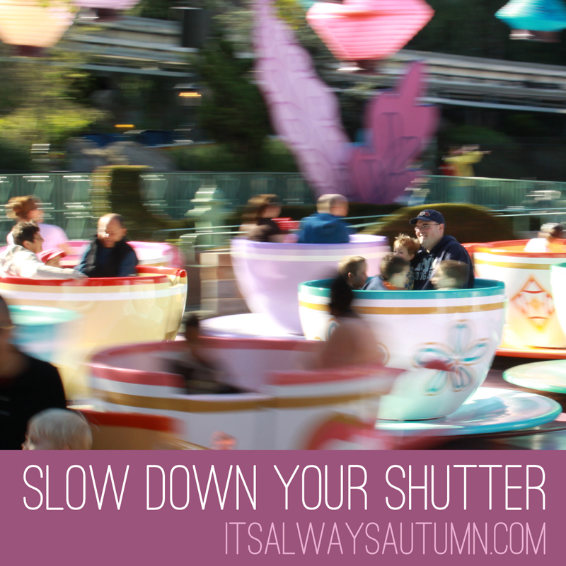 disney week: a scrapbook page + a panning (slow shutter) photo how-to