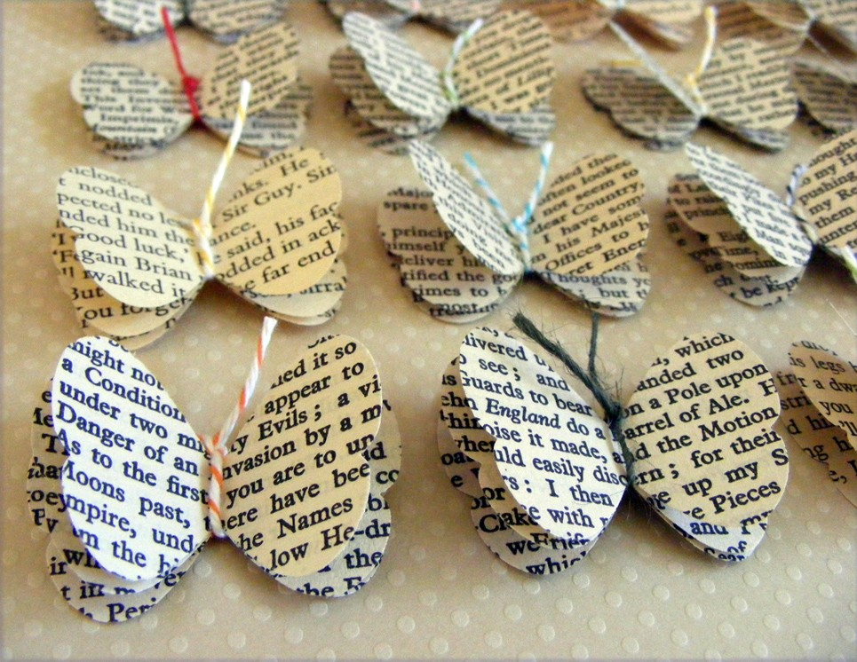 make: decorate with books or book pages - It\'s Always Autumn
