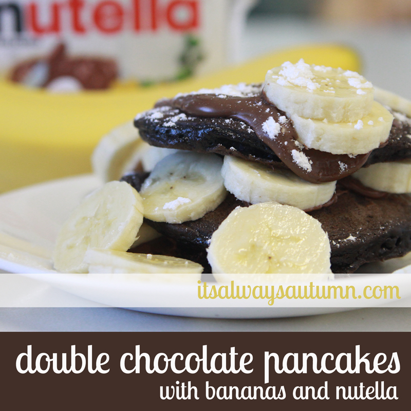 double chocolate pancakes with nutella and banana - It's ...