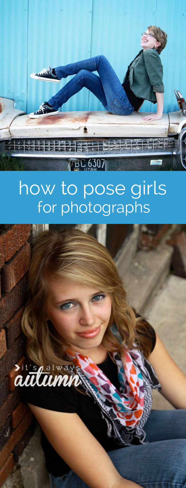 posing ideas for girls - how to pose girls for photographs/photos