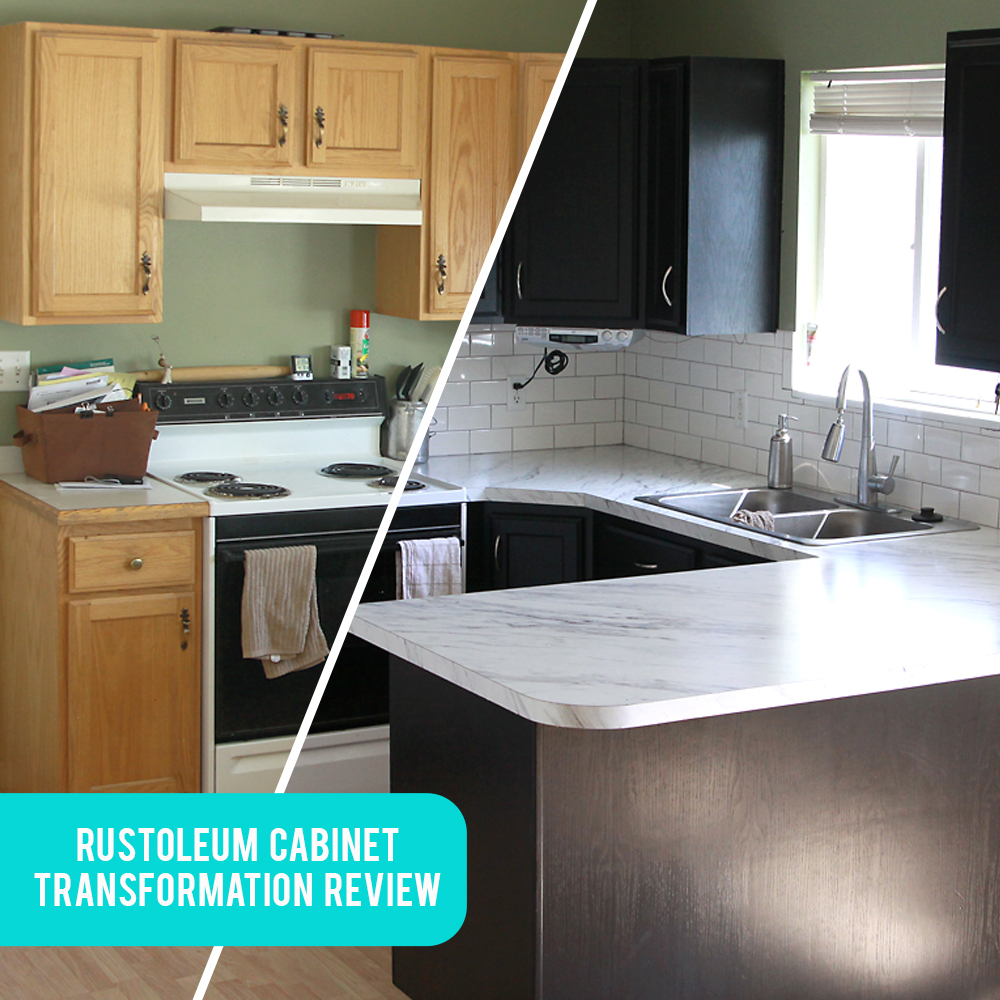 Painting Kitchen Cabinets With Rustoleum: Rustoleum Cabinet Transformations Review, Before + After