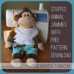 sew: stuffed animal jammies {freepattern!}