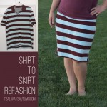How to make a skirt out of an old shirt {easy refashion}
