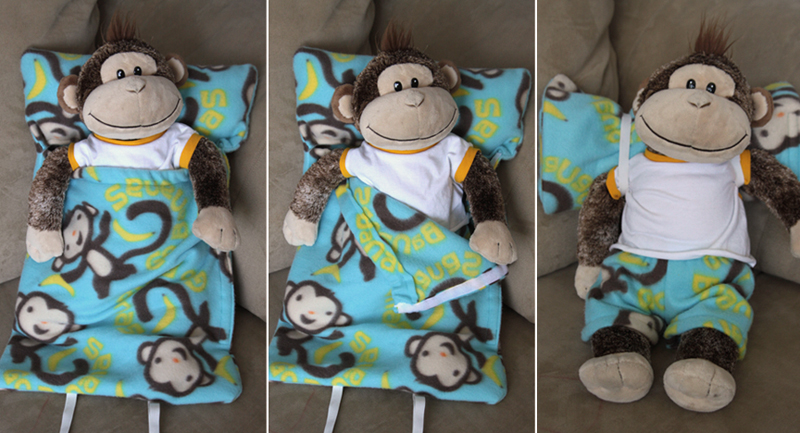 Make A Sleeping Bag For A Stuffed Animal It S Always Autumn