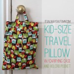 kid size travel pillows with carrying case and velcro pocket