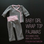 baby girl wrap front pajamas