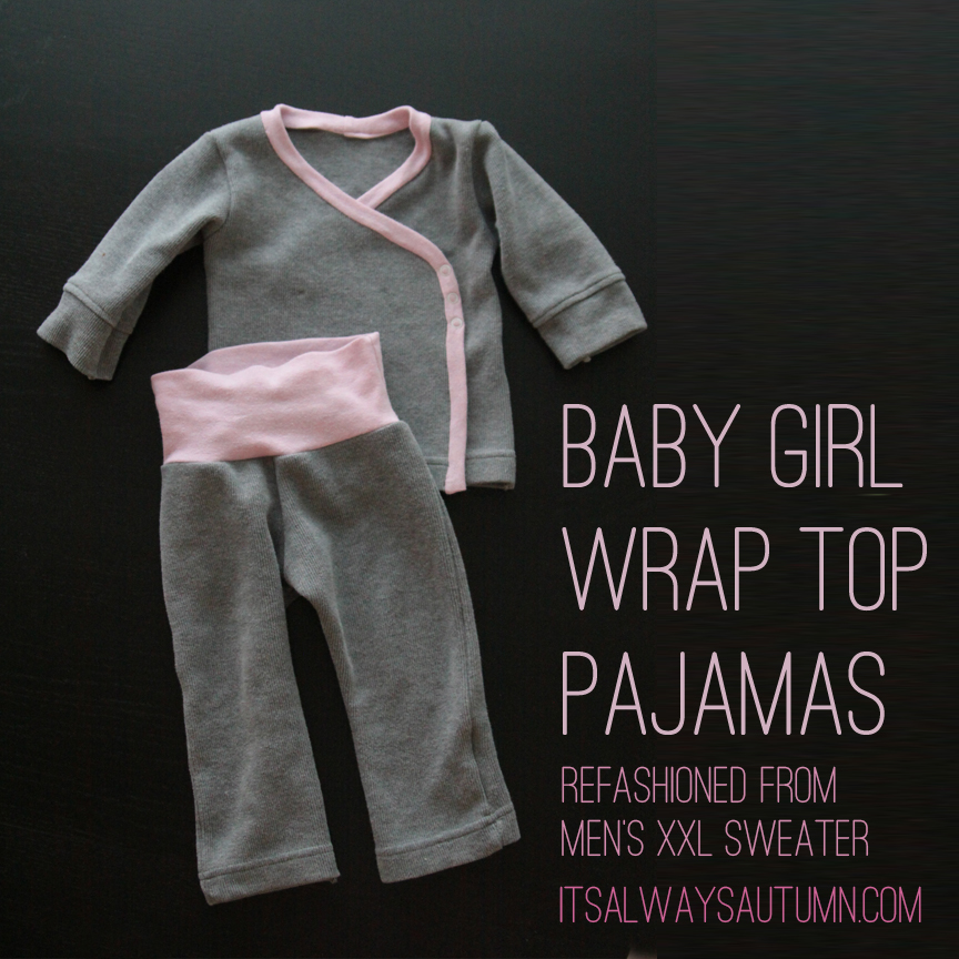 Baby Girl Wrap Front Pajamas It S Always Autumn