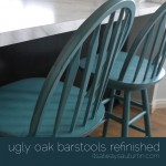 The easiest way to refinish bar stools