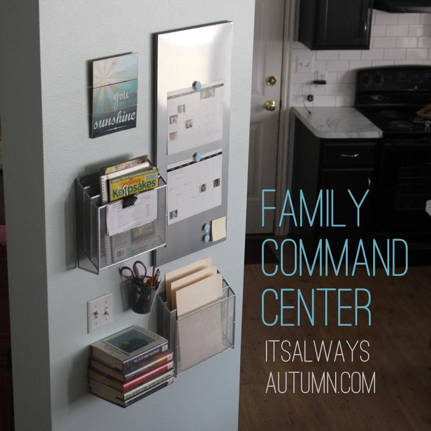 family command & homework center - It's Always Autumn