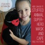 {kids can do it!} stuffed animal superhero mask and cape