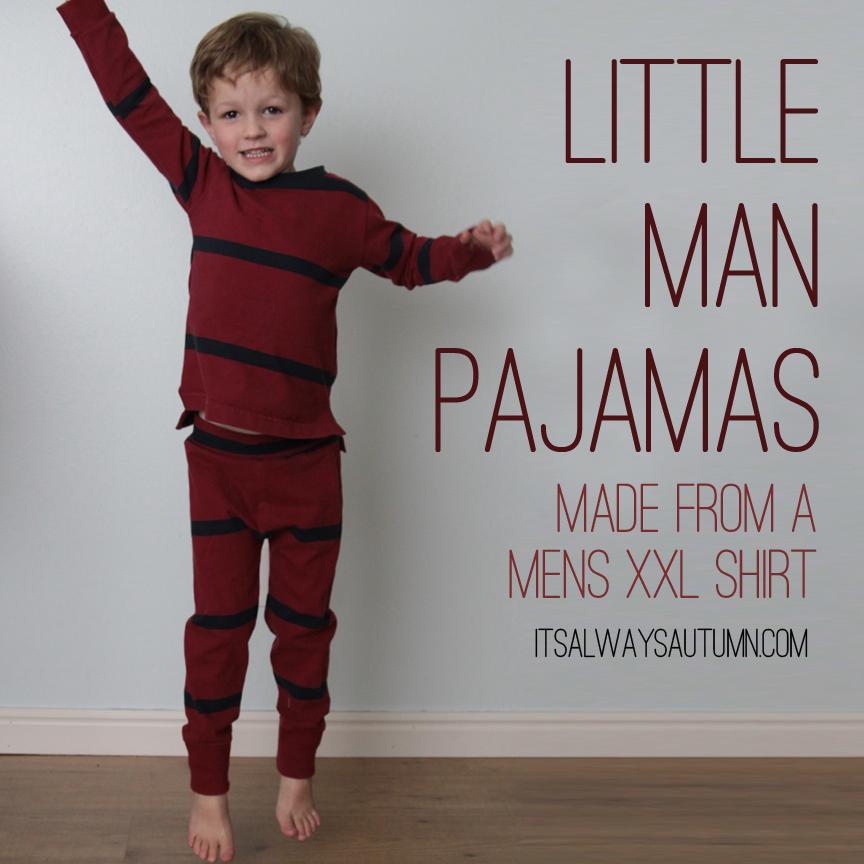 little man pajamas made from a men'sshirt
