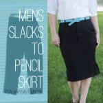 men's slacks to women's pencil skirt refashion tutorial
