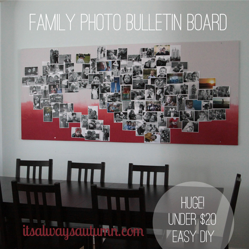 huge statement wall bulletin board for under$20