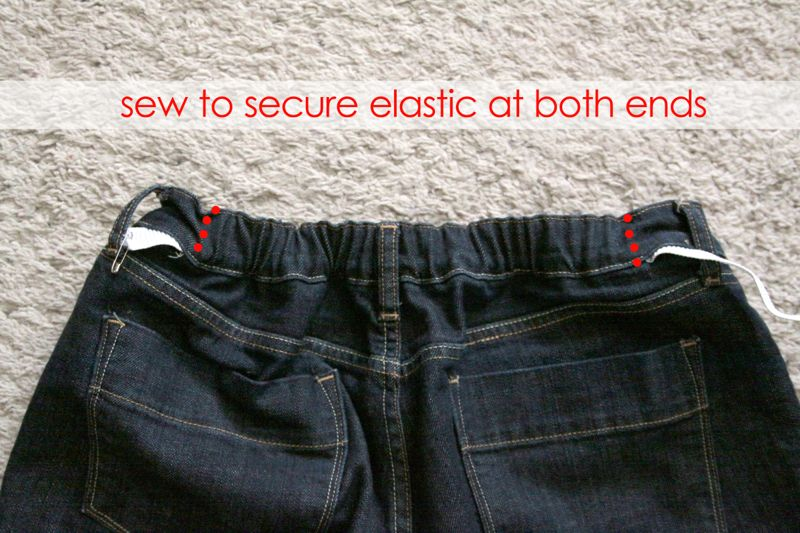 How To Fix Your Jeans Waistband No More Gap It S Always Autumn