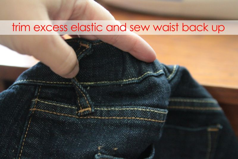 how to fix your jeans waistband no more jeans gap it 39 s always autumn. Black Bedroom Furniture Sets. Home Design Ideas