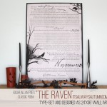 once upon a midnight dreary… {halloweendecoration}
