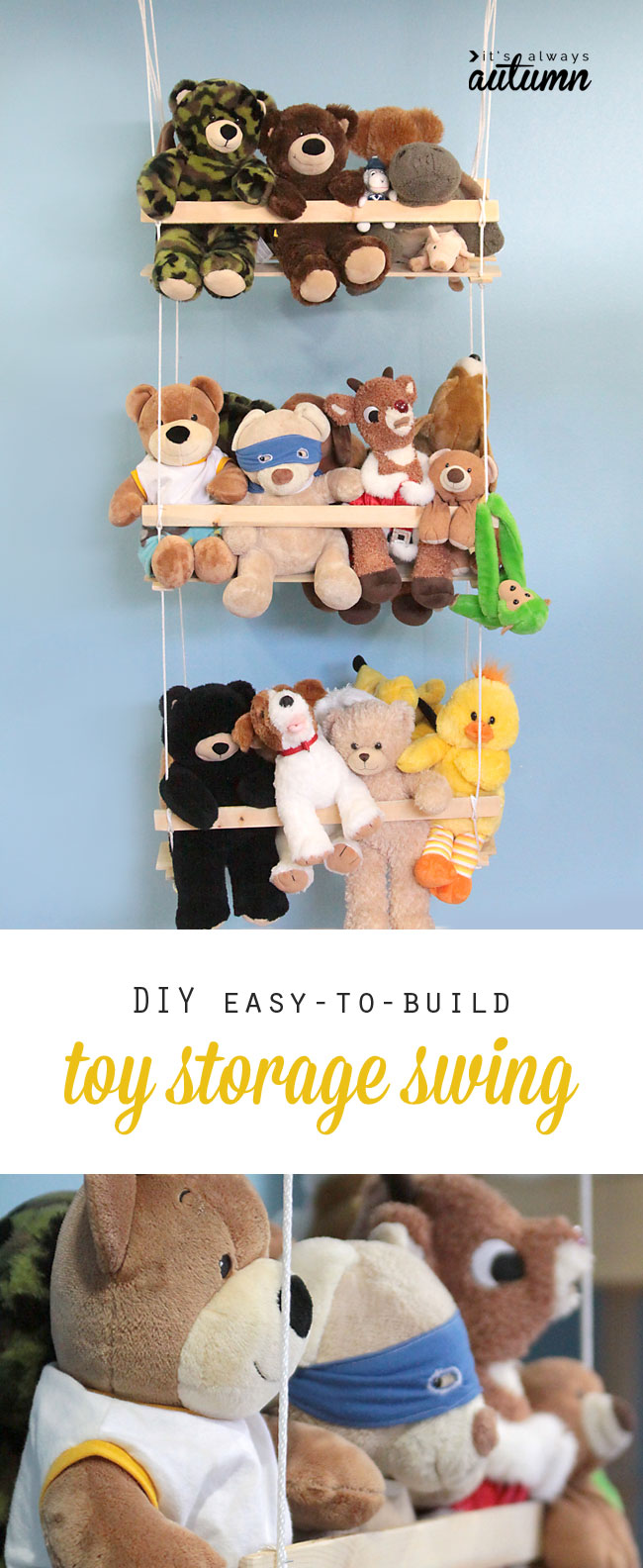 Diy Hanging Toy Storage To Organize The Stuffed Animals It S