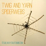 yarn and twig spiderwebs {kids can doit}