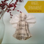 lessons from the nativity {angel ornament}