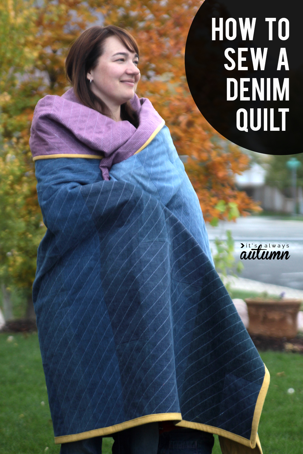 The easiest way to sew a gorgeous denim quilt!
