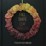 fall leaf wreath {kids can doit!}