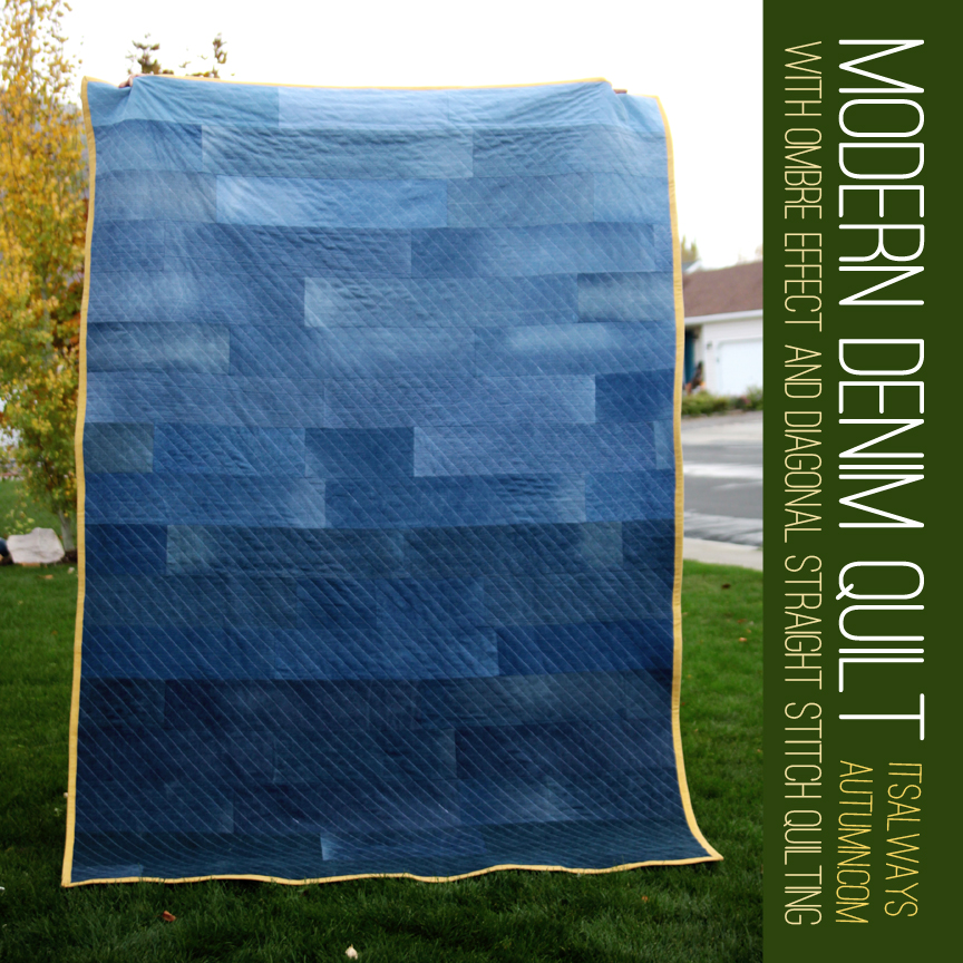Modern Denim Quilt It S Always Autumn