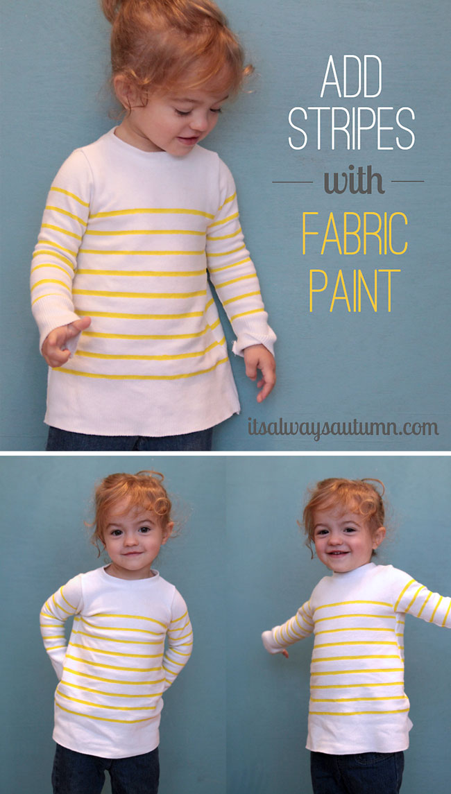 how to add stripes to clothes with fabric paint