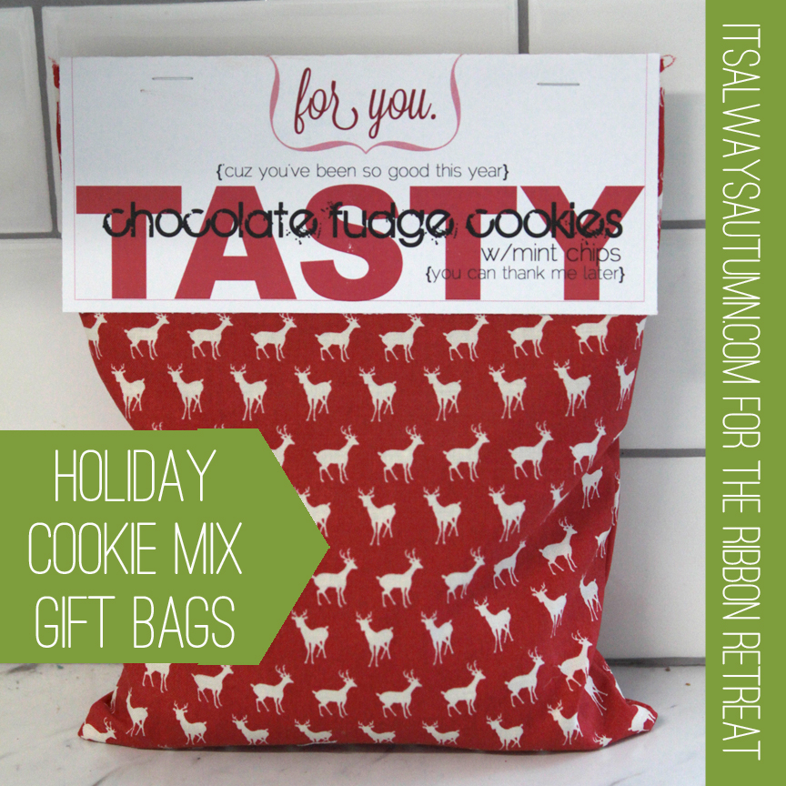 Holiday cookie mix gift bags it s always autumn