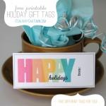 free printable holiday & Christmas gifttags