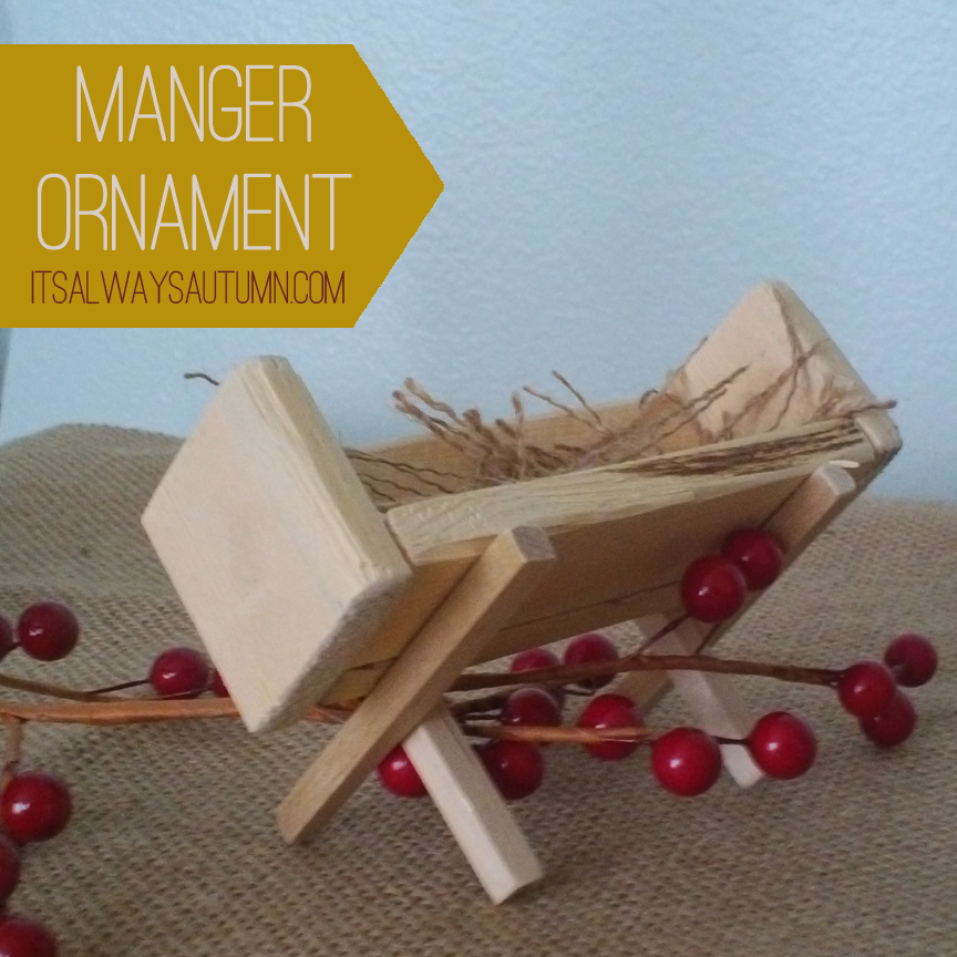 lessons from the nativity {mangerornament}