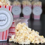 white chocolate peppermint popcorn + new years gift tags