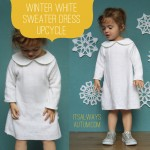 winter white sweater dress upcycle