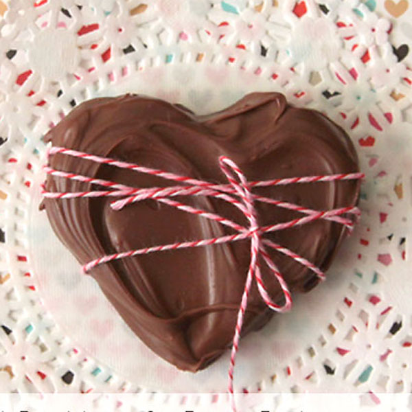 STL: peanut butter and chocolatehearts