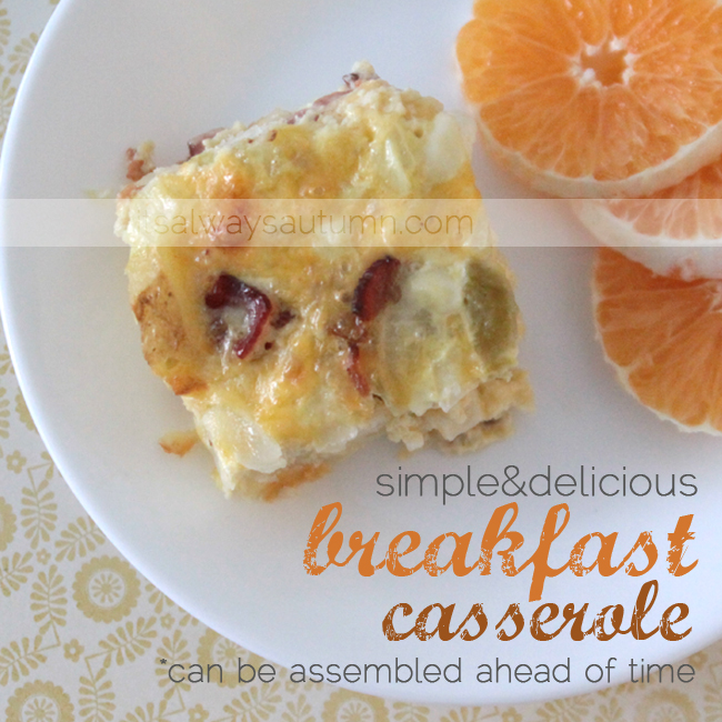 STL: host a casual morning get-together + make ahead casserole recipe