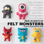 STL: felt monsters to make with your kids {plus free mix-n-match pattern}