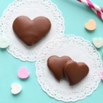 Peanut butter and chocolate hearts for Valentine's Day (just like Reese's!)