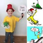 Easy DIY Green Eggs and Ham costumes for Dr. Suess day