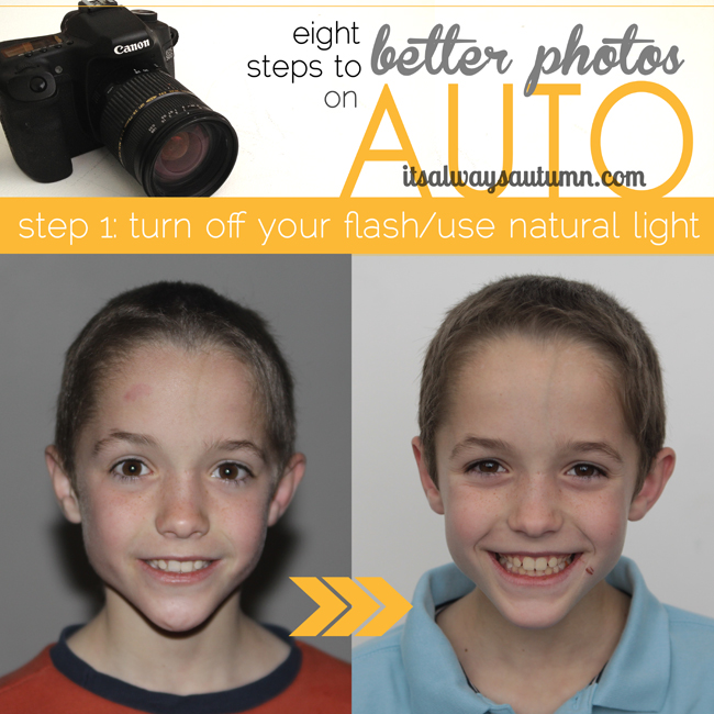 8 steps to better photos on AUTO {step 1: turn off yourflash}