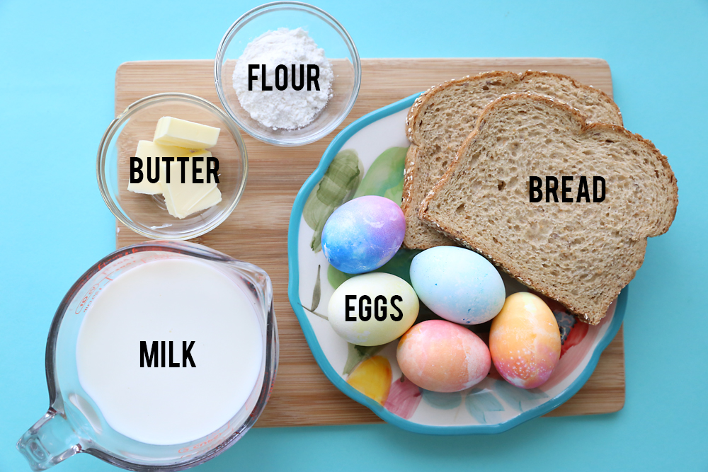Creamed eggs on toast recipe! Great way to use up all those hardboiled eggs at Easter.