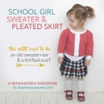 schoolgirl sweater and skirt {a refashioned wardrobe}
