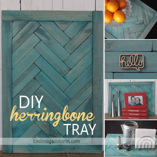 DIY herringbone tray