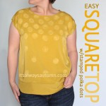 easy square top with stamped polkadots