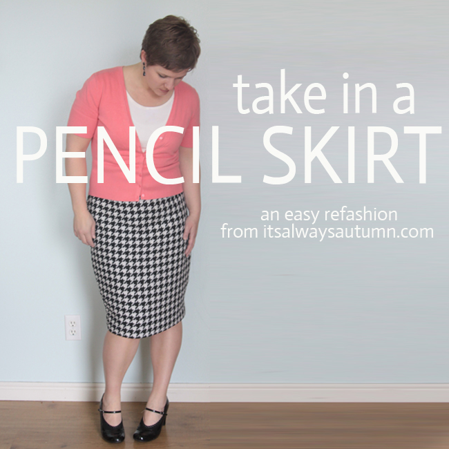 how to take in a pencil skirt