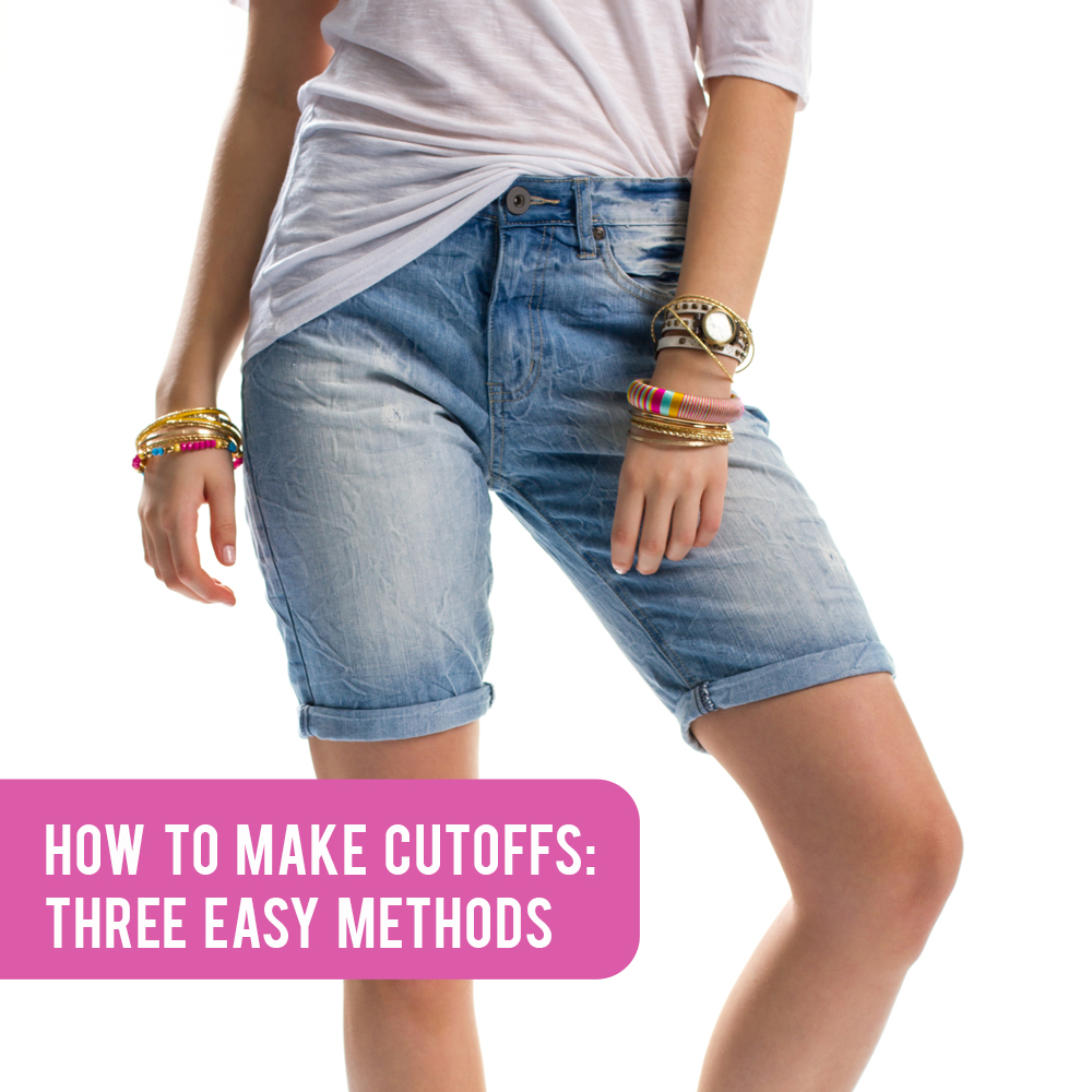 How to make shorts from jeans 32