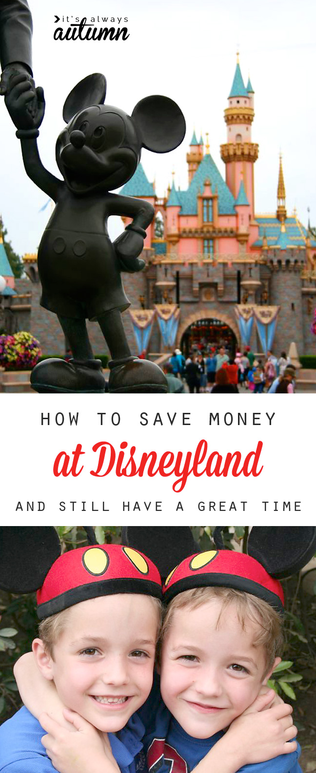 Great tips for saving money at Disneyland without sacrificing the fun! Disney on a budget.
